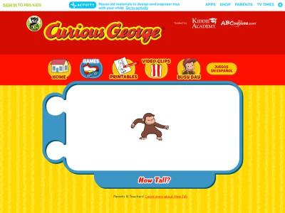 Curious George - How Tall