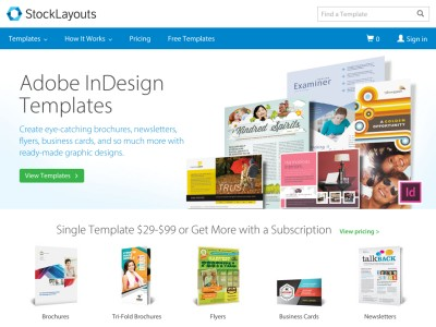 Stocklayouts Templates Adobe InDesign Designsaspx